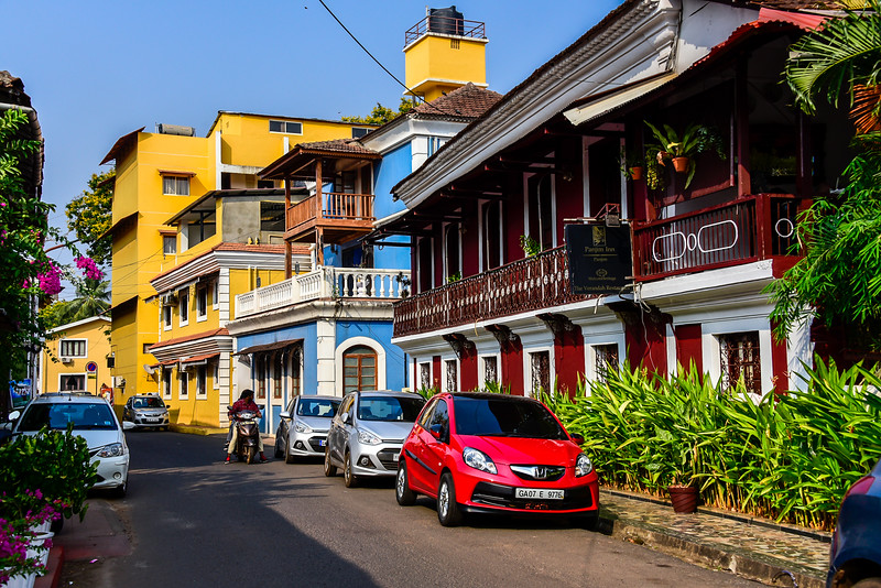 The clean streets of Goa's capital - Panjim