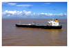 Tankers like this are a common sight in Amazon river. this was taken in Santarem's port.