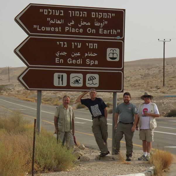 Dead Sea, West Bank: Hugh, William, Keith and John
