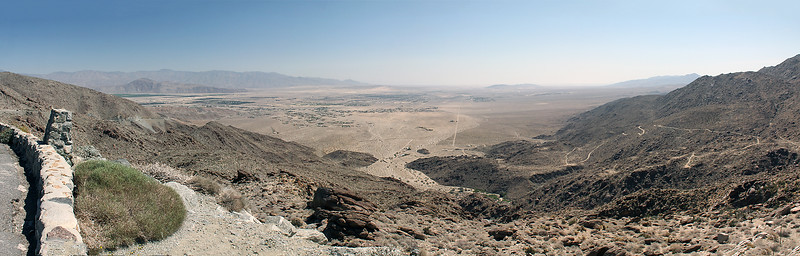 First views out over the Anza Borrego Valley as you come over the mountains from the west.