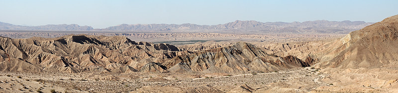 Another pano of the Carrizo Badlands.