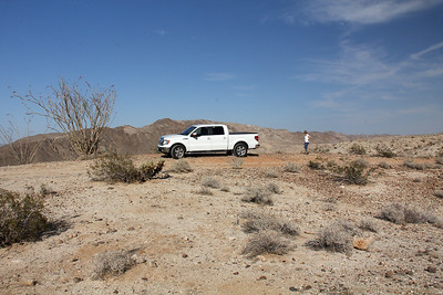 "At the Carrizo Badlands overlook ""parking""."