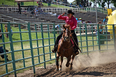 I didn't know the name of this competition, but you race your horse in front of the judges stand, and always tip your hat to the judges.