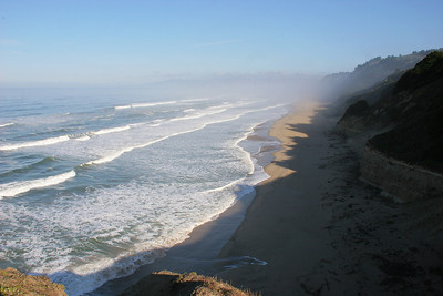 The early morning along the beach just north of San Gregorio State Beach.