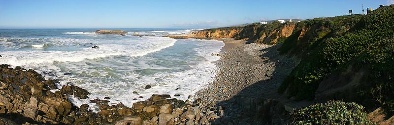 Multi-image panorama of Ano Nuevo State Beach.