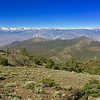 """<span style=""""color:yellow;""""> An iPhone panorama looking west across the Owens Valley to the High Sierra ridge.  </span>"""