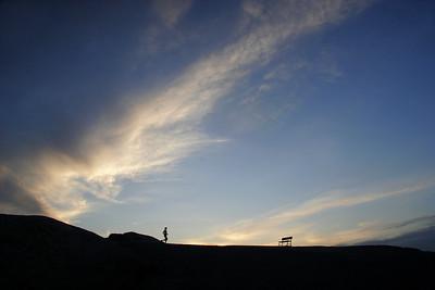 Sunset at Zabriskie Point.