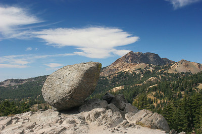 At the start of our hike into Bumpass' Hell, we see this erratic boulder by the parking lot.