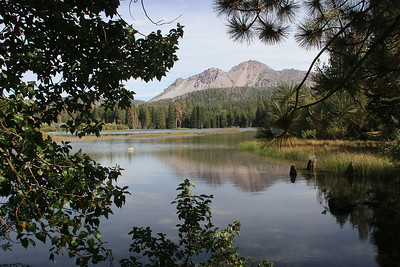 Mt. Lassen in the background, seen from Manzanita Lake.