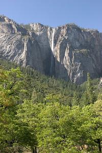 Ribbon Falls, a seasonal falls near El Capitan on the north wall of the canyon.