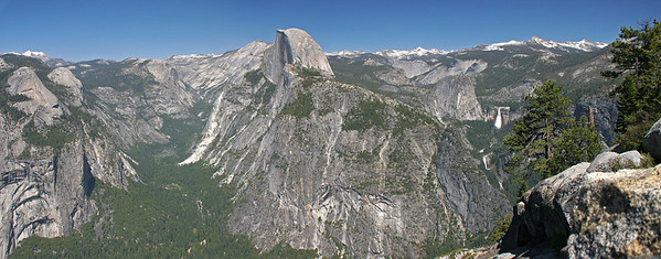 Multi image panorama taken from Glacier Point.