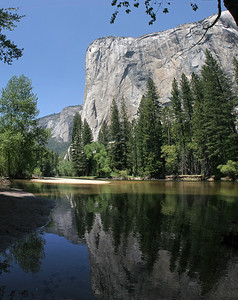 Another of El Capitan seen over the Merced River/. 5 photos stacked vertically and stitched.
