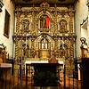 This is the original Baroque altar from Spain where Father Juniperro Serra officiated mass.
