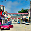 A street view of historic Cannery Row in Monterey.