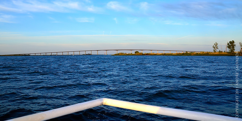 View of Antioch Bridge from our boat.