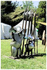 Arms and armors are on display on this camp. this will be used later for a mock war.
