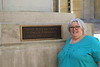 Stepsister Laura Devonshire at the church where her grandmother's second marriage took place (Cincinnati OH)