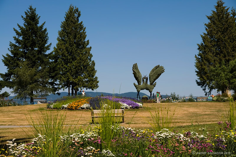 This is the center piece shrub sculpture at the topmost part of the mountain park.
