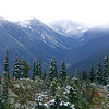 View from near the the top of Whistler Mountain