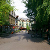 Our morning walk. Street view, village of Whistler