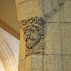 One of the stone carvings throughout the building