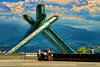 A closer look at the torch of the  Winter Olympics 2010.