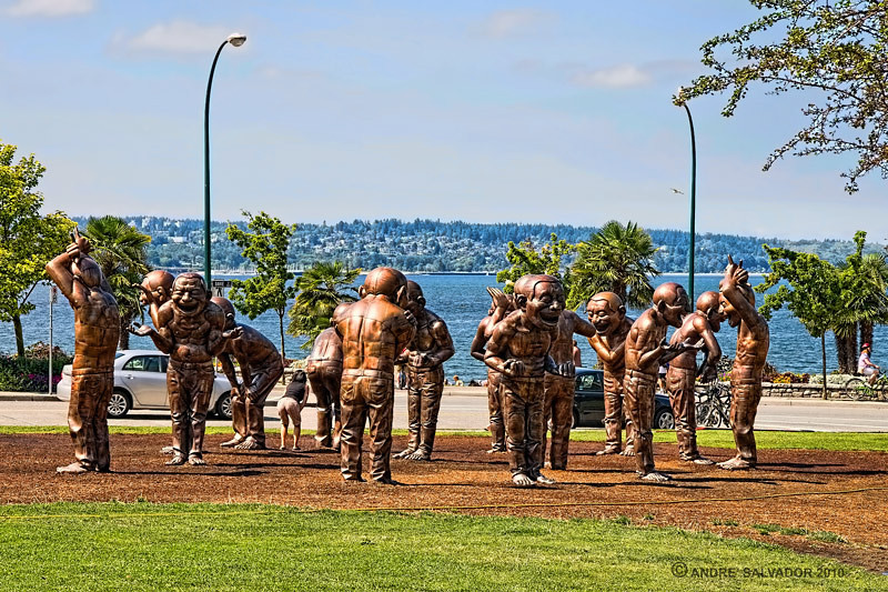 Sculptures at English Bay (First) Beach Park