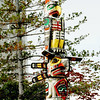 Totem poles are part of the outdoor exhibits at the Royal B.C. Museum.