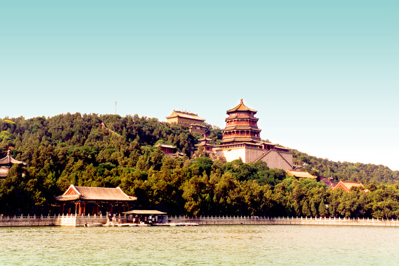 The Summer Palace is an island and is the largest and best-preserved imperial garden in China. Its chinese name, YiHeYuan, translates as 'Garden of Nurtured Harmony' or 'Garden for Maintaining Health and Harmony'.
