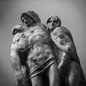 Unfinished sculptures