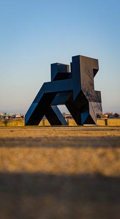 Modern art sculpture