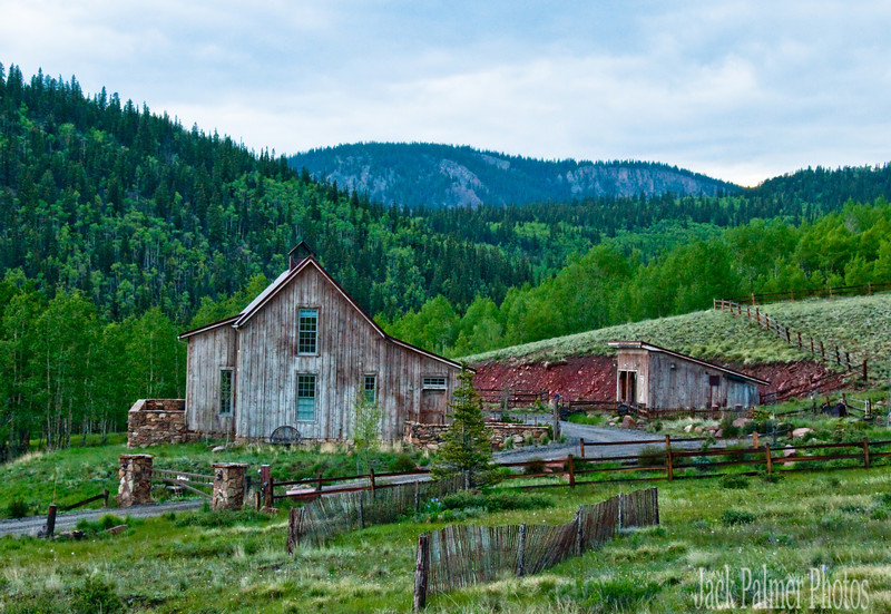 This old looking house in the country outside of Creede looked old..but it was new construction(made to appear as an old home).