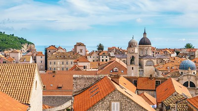 Pretty skyline of Old Town, Dubrovnik.