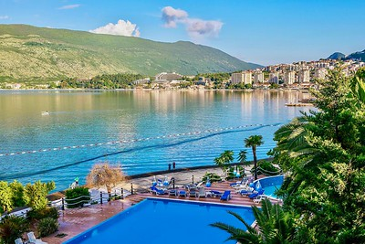 The picturesque waterfront tourist town of Herceg Novi, on the Bay of Kotor.
