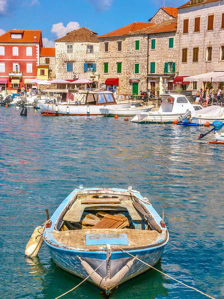 Colorful Harbor in Croatia