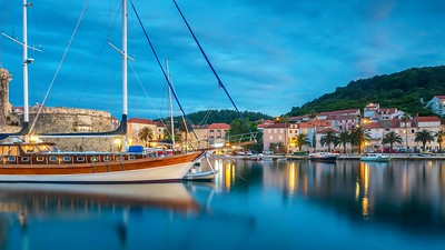 Blue hour in Croatia