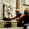 It was a hot and humid day when we were in Dubrovnik. This kid just would not leave Onofrio's Fountain. This old fountain is at one end of Stradun street. This fountain was built in 1438.