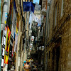 On this side street the tourists eat under the clothes lines! A new experience. :)