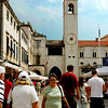 This bell tower is on the other end of Stradun Street.