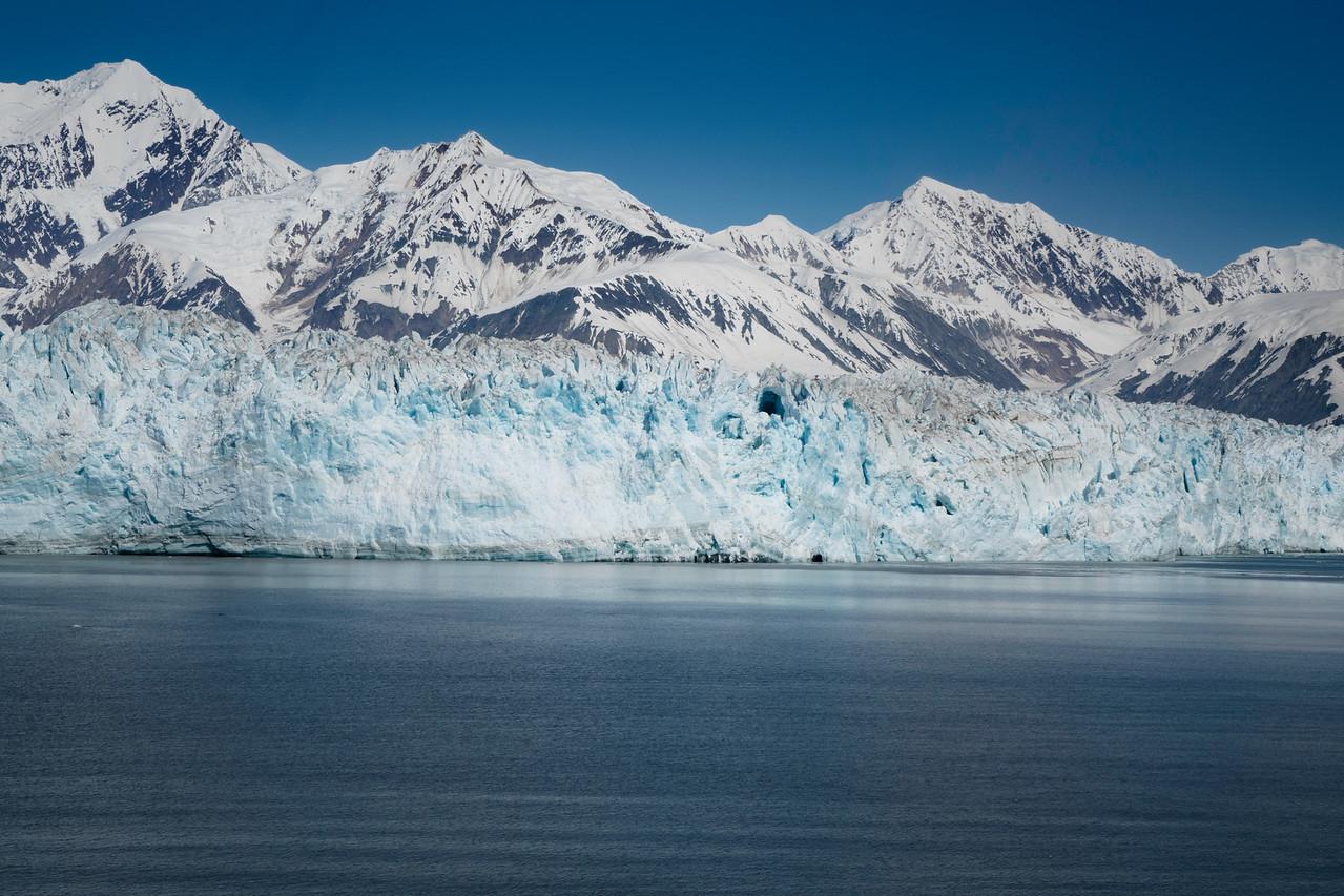Hubbard Glacier - blue skies