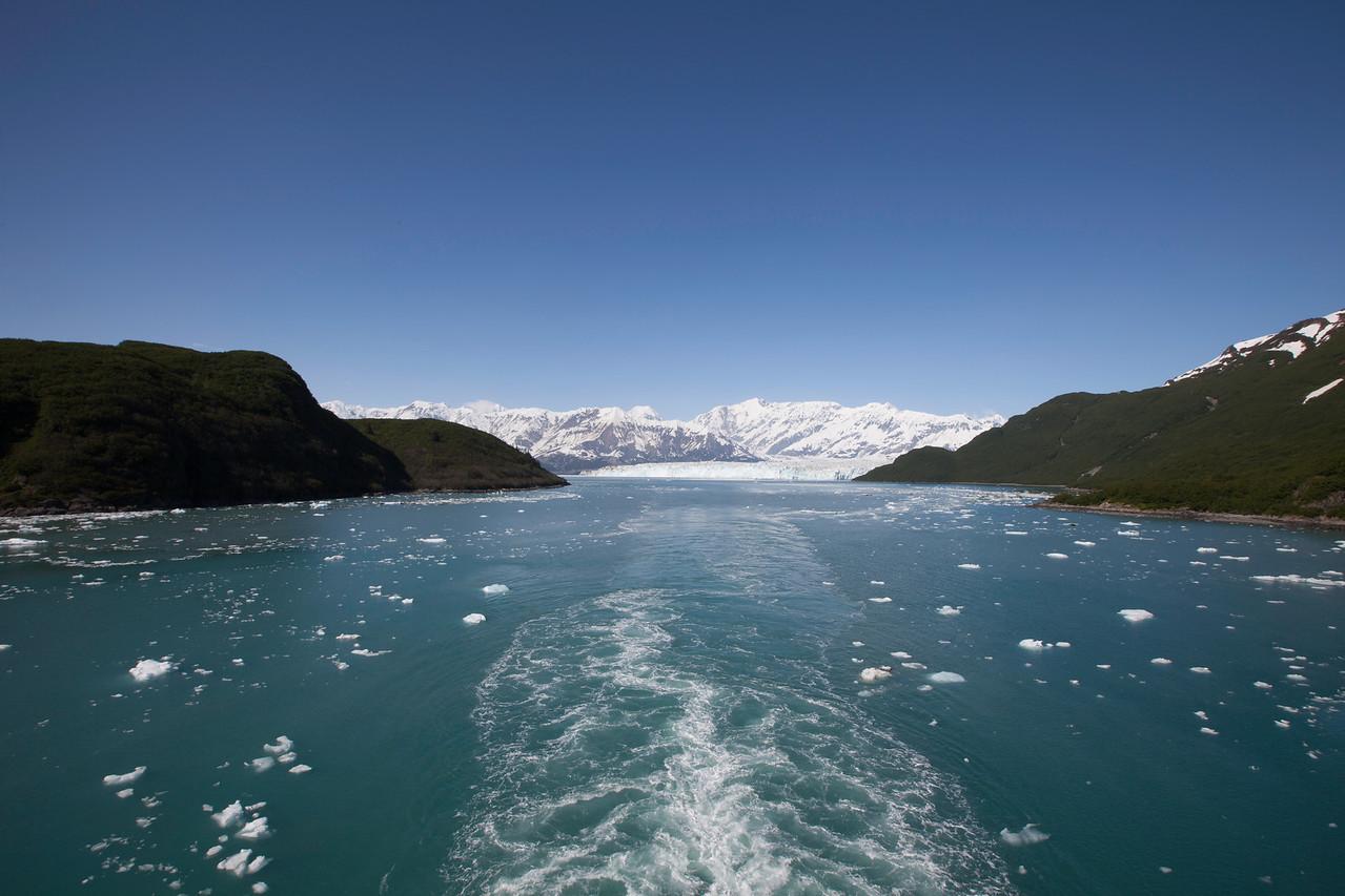 Leaving Hubbard Glacier