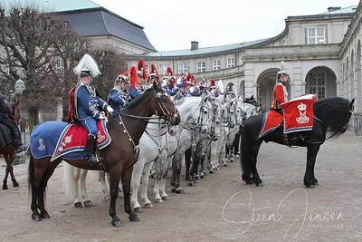 2012-01-03 Monachy in Denmark; Royal New year Tradition 2012; Nytårstaffel 2012
