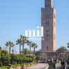 La Koutoubia Tower Minaret in Marrakech in Morocco