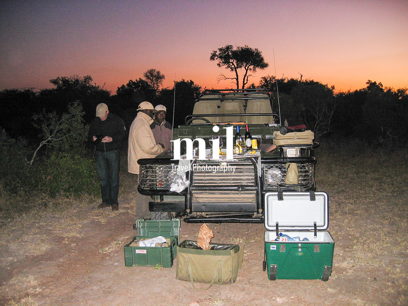 Sun Downer on Safari