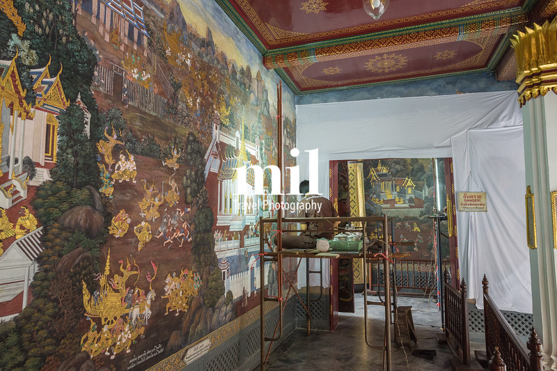 Restoration of Thai history mural