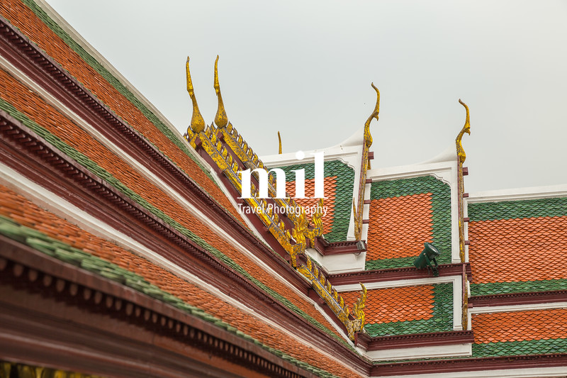 Roof of temple in Bangkok