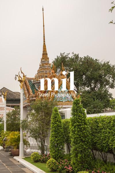 Garden in the Grand Palace in Bangkok