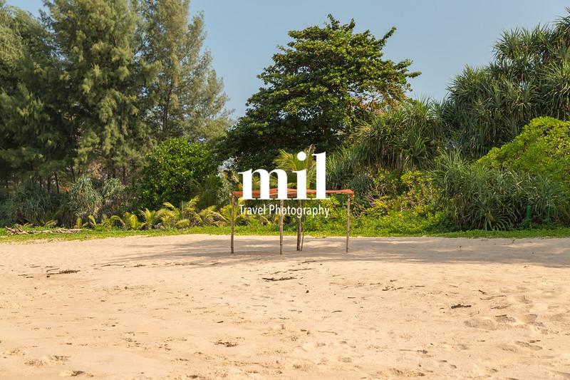 Shelter on Hat Na Tai (Natai) beach