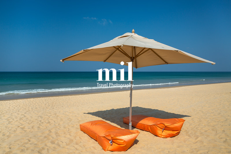 Sunbeds on Hat Na Tai (Natai) beach