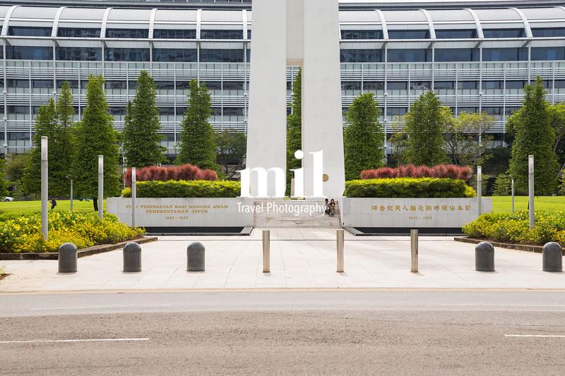 The war memorial in Singapore